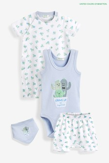 Benetton Baby-Set, Blau