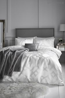 Caprice Harlow Luxury Geo Jacquard Duvet Cover and Pillowcase Set
