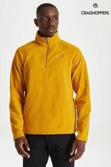 Желтый флисовый топ с короткой молнией Craghoppers Corey