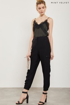 Mint Velvet Black Utility Trouser
