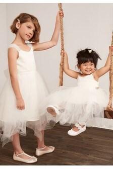 Brautjungfernkleid mit perlenverzierter Schulter (3-16yrs)