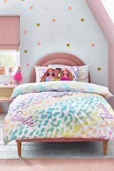 Multi Barbie Animal Print Glitter Ombre Duvet Cover and Pillowcase Set