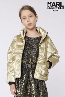 Золотистая стеганая куртка Karl Lagerfeld