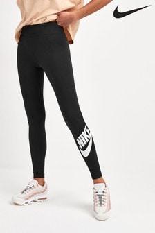 Черные леггинсы с высокой талией Nike ClubLeg-A-See