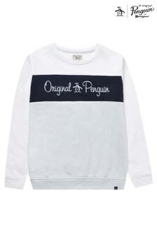 Original Penguin Panel Crew Sweatshirt