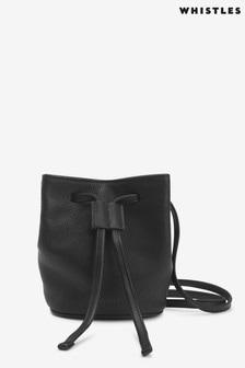 Whistles Black Ammie Mini Drawstring Bag