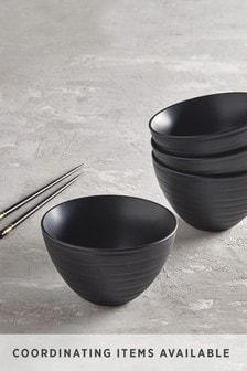 Black Bronx Set of 4 Noodle Bowls