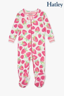 Hatley White Delicious Berries Organic Cotton Footed Coverall