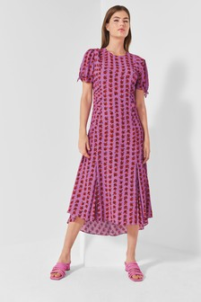 Mix/Caroline Issa Rose Print Tea Dress