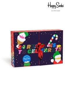 Мужские носки в подарочной коробке Happy Socks Advent Calendar, 24 пары