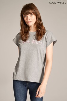 Jack Wills Grey Marl Forstal Boyfriend T-Shirt
