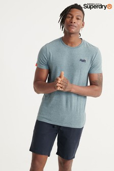 Superdry Blue Embroidered Logo T-Shirt