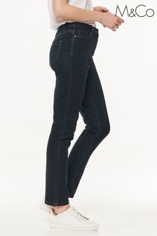 M&Co Indigo Basic Straight Leg Jeans