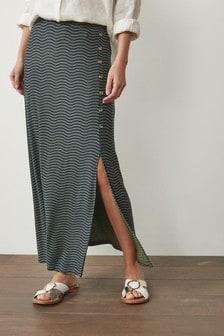 Трикотажная юбка макси