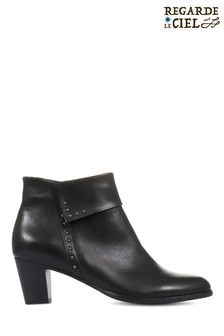 Regarde Le Ciel Sonia-23 Studded Leather Ankle Boots