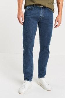 جينز ضيق مستقيم كحلي من GANT