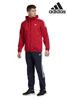 Черно-красный спортивный костюм adidas