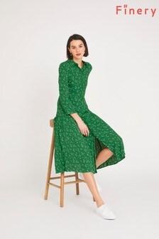 שמלת חולצהLiana ירוקה שלFinery