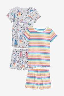 2 Pack Character Short Pyjamas (3-16yrs)
