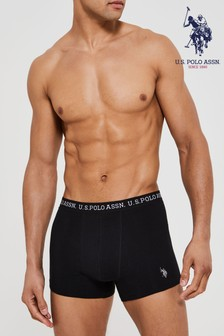 U.S. Polo Assn. 3 Pack Text Boxers