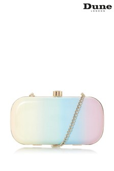 Dune London Bonique Multi Patent Synthetic Contrast Print Frame Clutch Bag