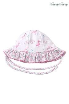 Kissy Kissy Pink Flamingo Frilly Sun Hat
