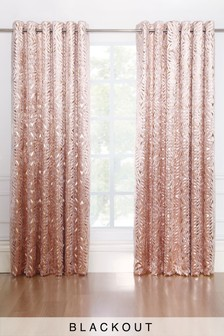 Velvet Metallic Foiled Eyelet Curtains