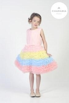 Charabia Pink Rainbow Tutu Dress