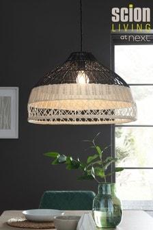 غطاء مصباح سهل التركيب لون طبيعي وأزرق روطان من Scion Living لدى Next