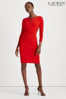 Czerwona sukienka Lauren Ralph Lauren® Orient Carlonda Stretch