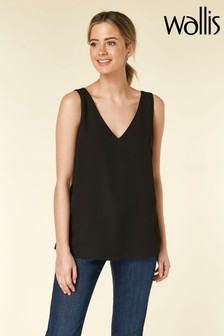 Wallis Black Petite V-Neck Cami
