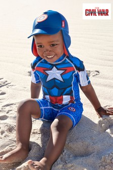 Captain America Sunsafe Swimsuit (3mths-8yrs)