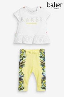 Baker by Ted Baker Tropical T-Shirt And Leggings Set
