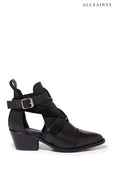 Черные кожаные ботинки AllSaints Darcy