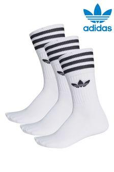 Набор из трех пар детских носков с логотипом-трилистником adidas Originals
