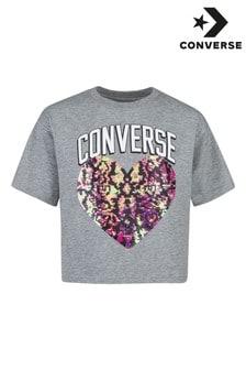 חולצת טי עם פאייטים של Converse Youth