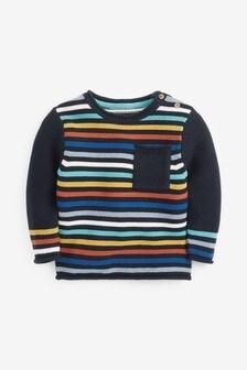 Rainbow Stripe Knitted Jumper (3mths-7yrs)