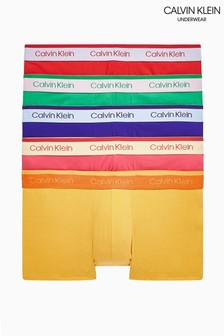 Calvin Klein Pink Cotton Stretch Low Rise 5 Pack Trunks