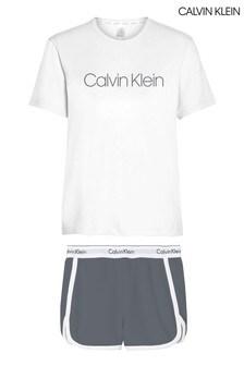 Calvin Klein Pewter Modern Cotton Lounge Short Set