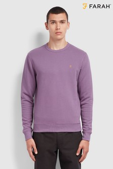 Farah Purple Tim 100 Anniversary Crew Neck Sweatshirt
