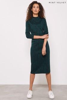 Mint Velvet Snake Jersey Jacquard Dress