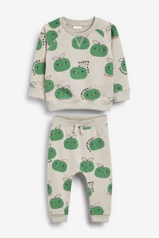 GOTs Organic Apple Sweatshirt And Jogger Set (0mths-2yrs)