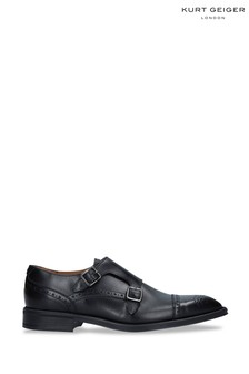 Kurt Geiger London Raphael Black Monk Shoes