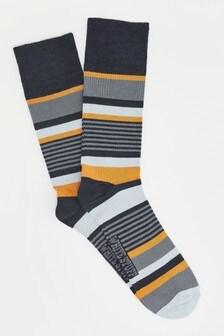 White Stuff白色條紋竹纖維襪子