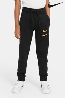 Nike Black/Gold Double Swoosh Joggers