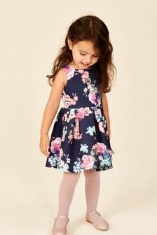 Платье из гладкой ткани (1,5-16 лет)