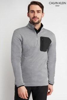 Calvin Klein Golf Grey Pinnacle Half Zip Sweater