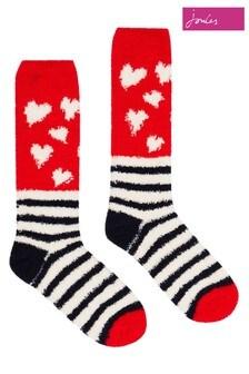 Joules Blue Fabulous Fluffy Socks