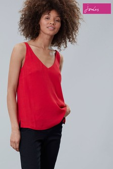 Joules Red Kyra V-Neck Cami