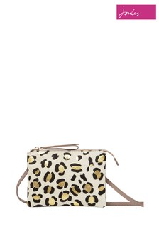 Joules Brown Ava Leather Cross Body Bag